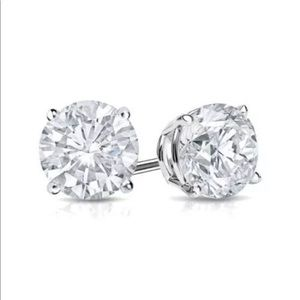 Jewelry - 4.00 total carat simulated diamond stud earrings